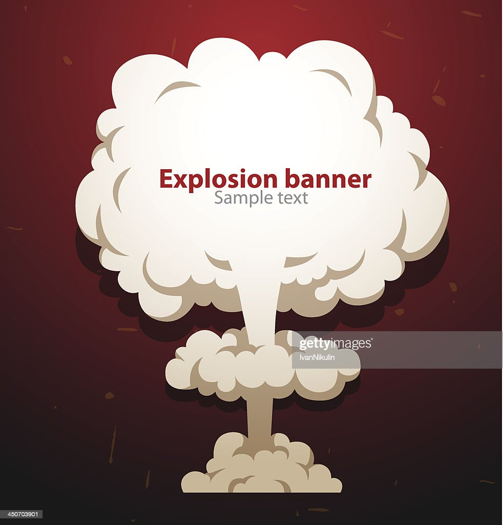 Banner nuclear mushroom