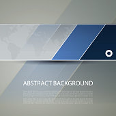 Banner or Header Design with World Map