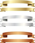 banner ribbon gold silver copper