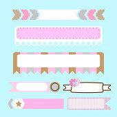 banner ribbon text box