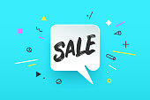 Banner Sale in geometric style