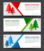 MERRY CHRISTMAS. Banner template. advertisement. flyer layout. Christmas Tree vector illustration.