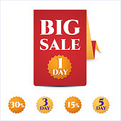 banner template big sale, only today,