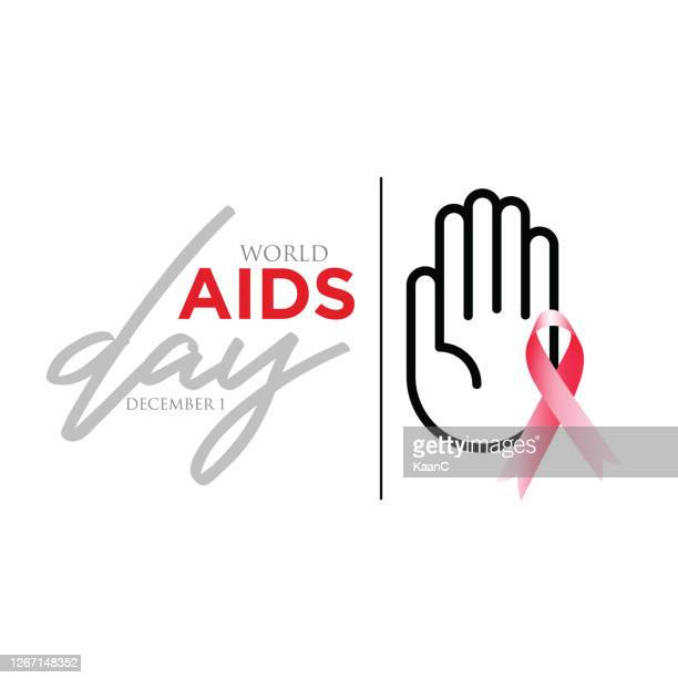 banner with realistic red ribbon. poster with symbol for world aids day, 1 december. design template, vector. stock illustration - world aids day stock illustrations