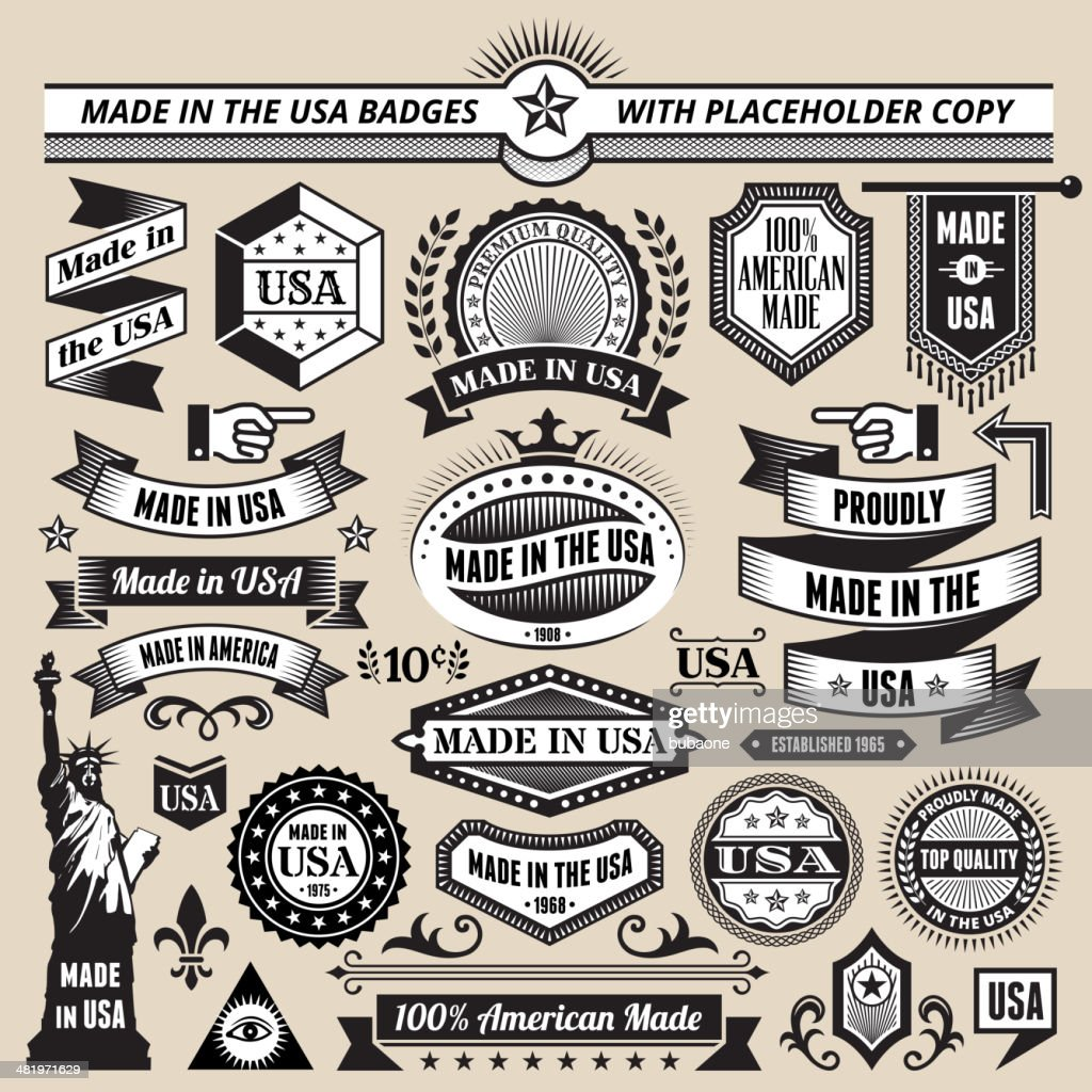 Banners badges and symbols with made in the usa vector art getty banners badges and symbols with made in the usa vector art buycottarizona