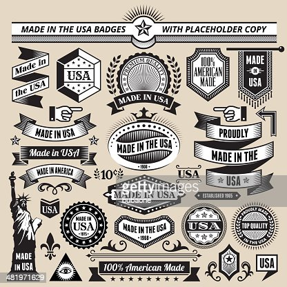 Banners Badges And Symbols With Made In The Usa Vector Art Getty