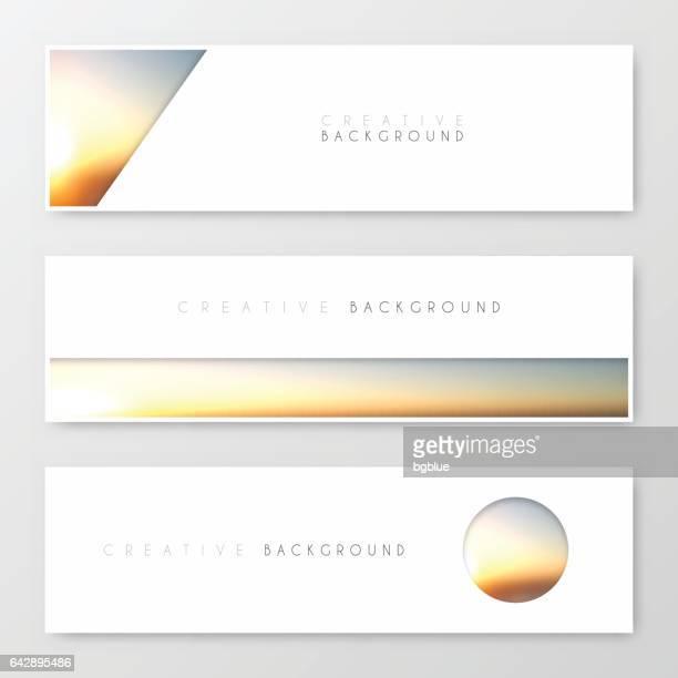 Banner Design, Vorlage, kreatives Design, Broschüre, Flyer,