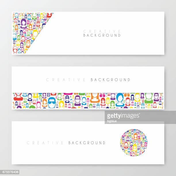 Bannières, design, template, design créatif, Brochure, dépliant,