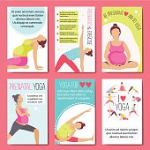 Banners for advertising pregnant yoga.