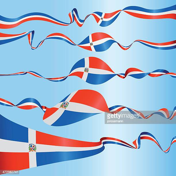 banners of dominican republic - dominican republic flag stock illustrations