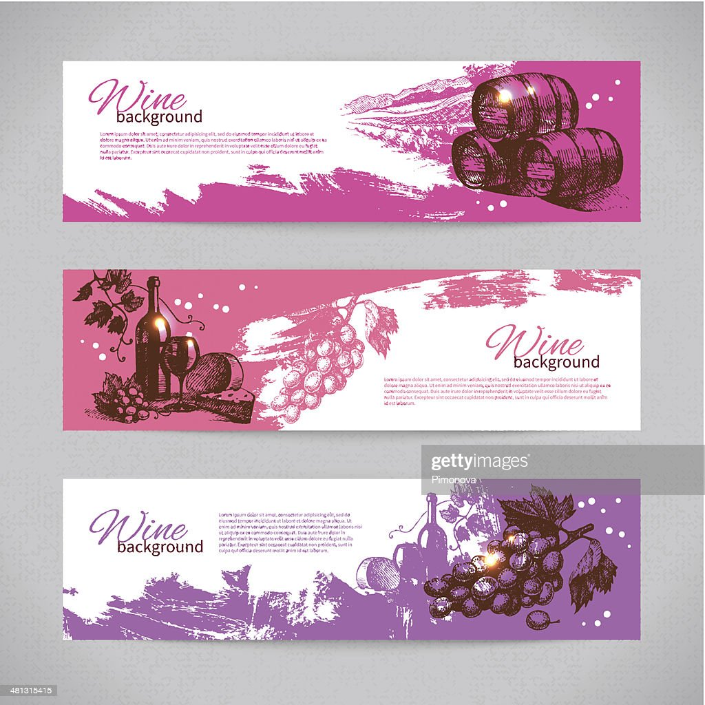 Banners of wine vintage background