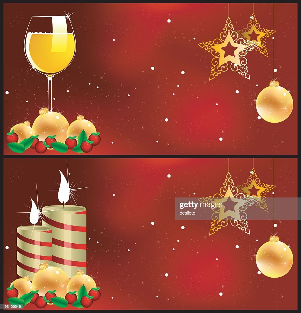 Banners Of Xmas Greetings And Celebrations Vector Art Getty Images
