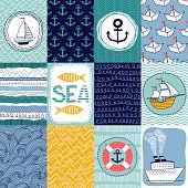 banners or cards with nautical elements