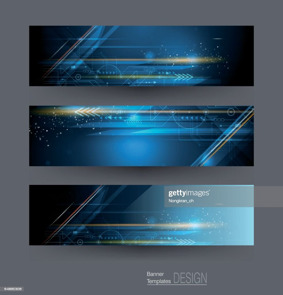 Banners set image of speed movement pattern and motion blur