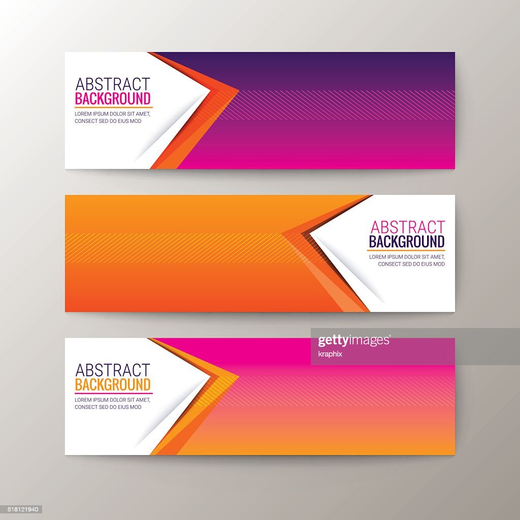 Banners template with abstract triangle shape pattern background
