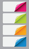 Banners with different corne. vector illustration