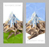 banners with mountains