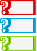 Banners with Question Mark
