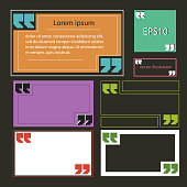 Banners with quotes multicolored rectangular vector eps 10