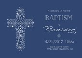Baptism, Christening, Communion, Confirmation Invite - Invitation Template - Vector