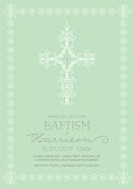 Baptism, Christening, or First Communion Invitation Template - Vector