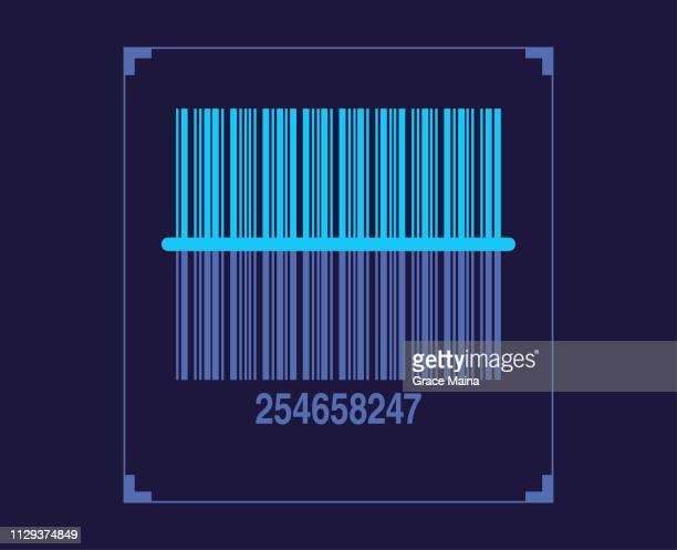 illustrations, cliparts, dessins animés et icônes de bar code scanner numérisation produit qr code - code barre