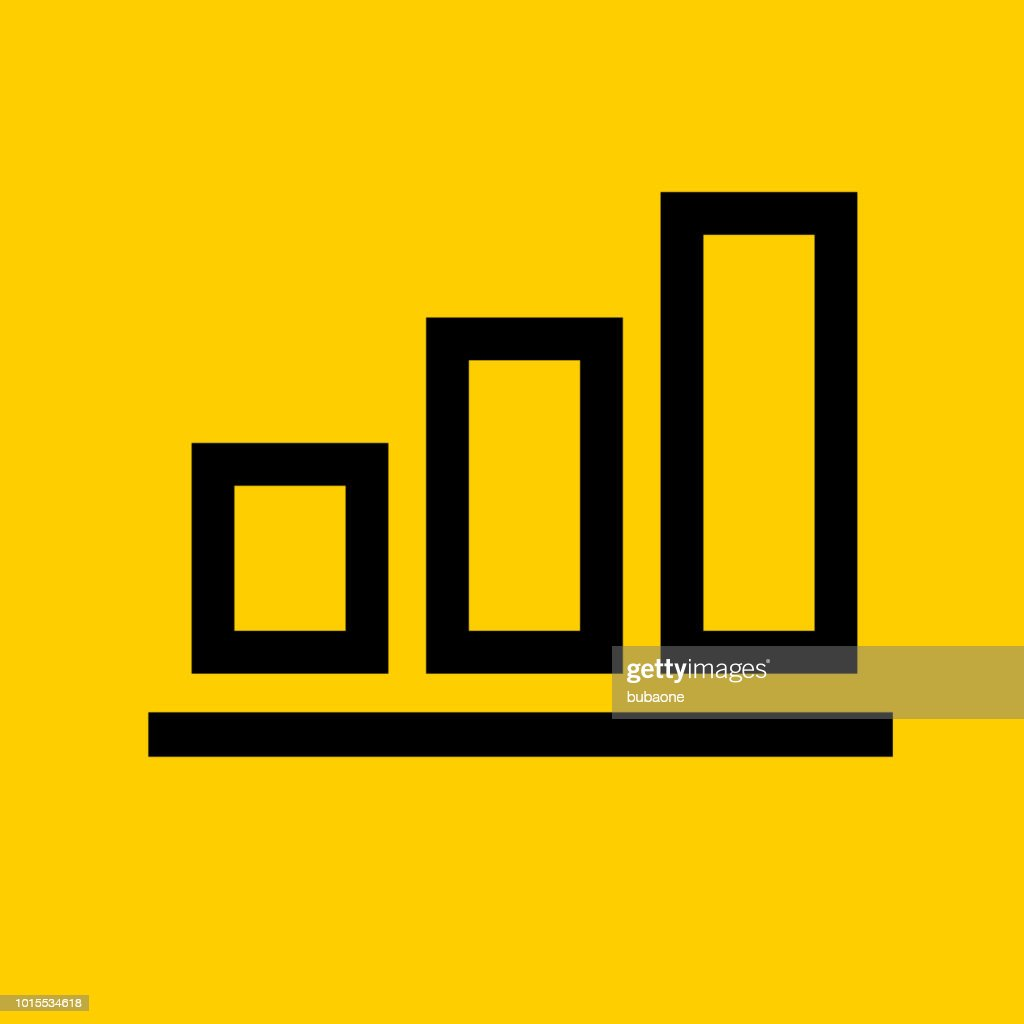 bar graph growth chart icon vector art | getty images