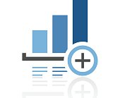 Bar Graph icon on a white background. - Royal Series