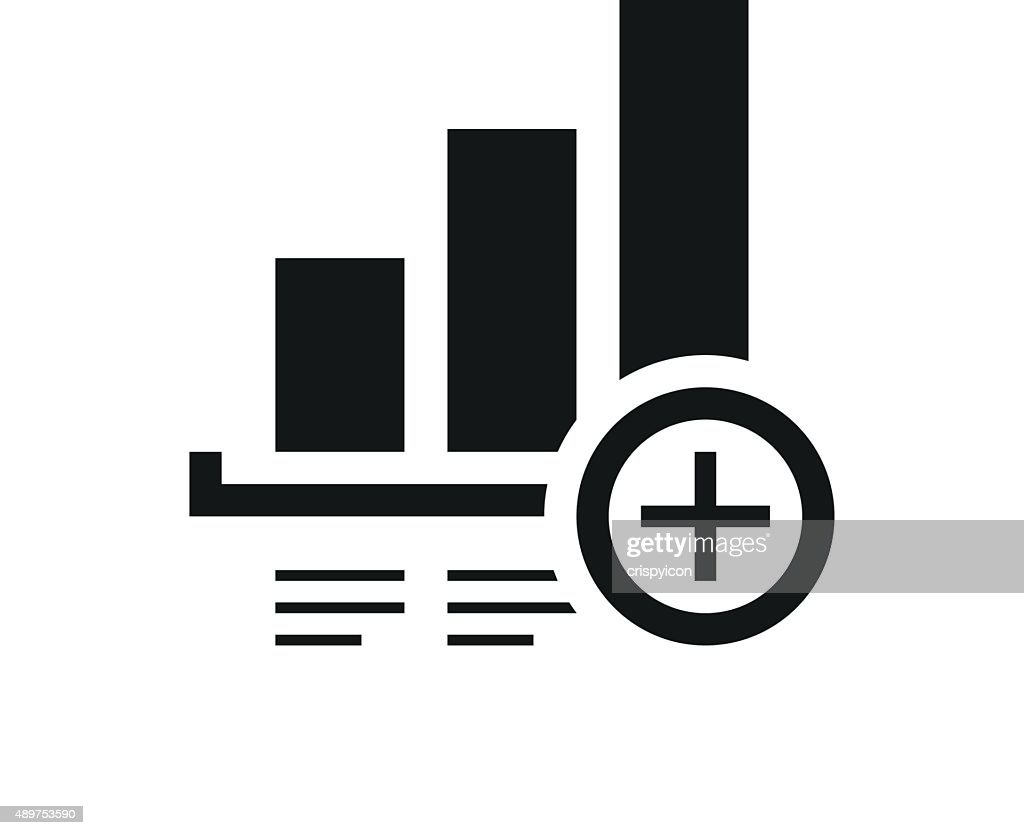 Bar Graph icon on a white background. - Single Series