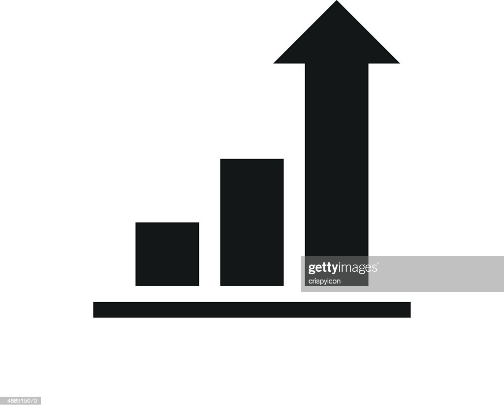 bar graph icon on a white background vector art | getty images
