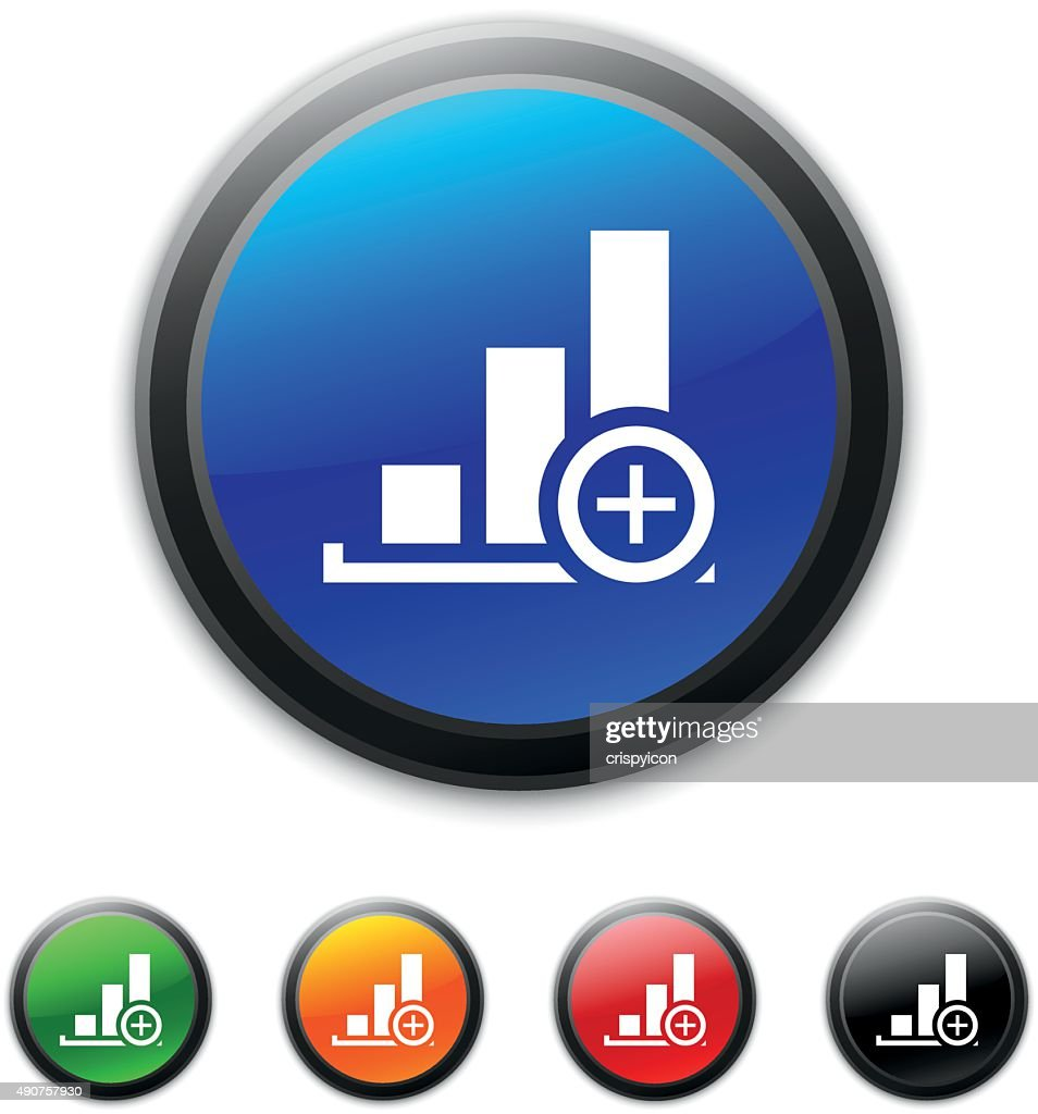 Bar Graph icon on round buttons. - ShinedSeries