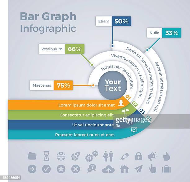 Bar Graph Infographic Concept