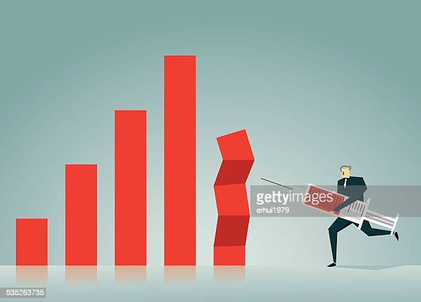 bar graph - subprime loan crisis stock illustrations
