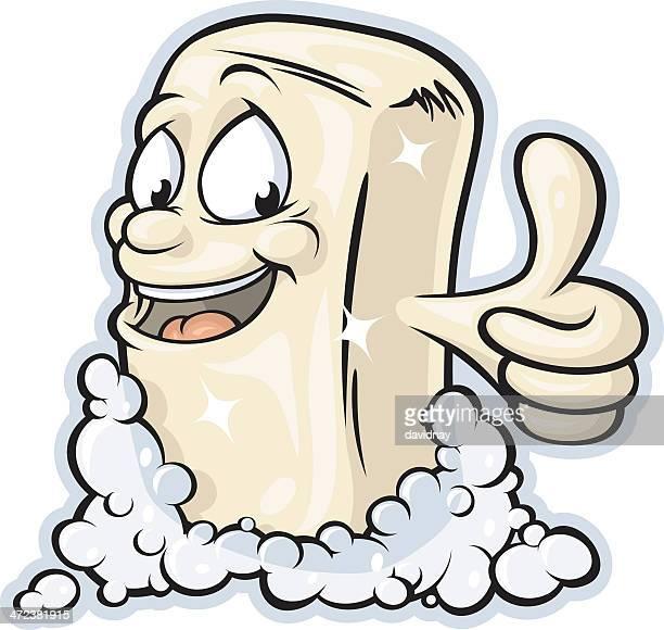 bar soap mascot - scrubs stock illustrations