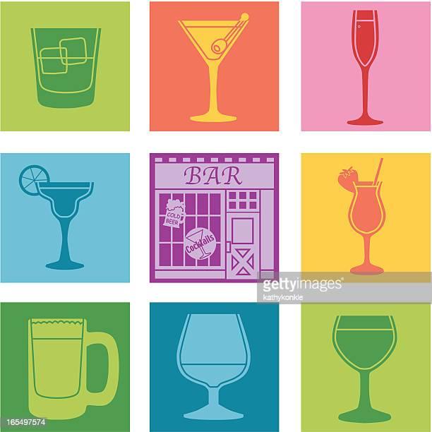 bar - brandy stock illustrations, clip art, cartoons, & icons