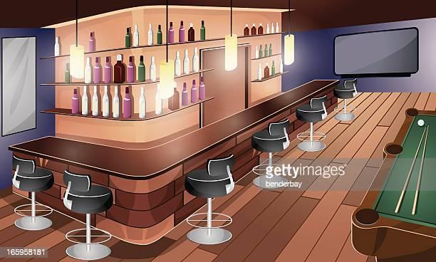 bar - stool stock illustrations, clip art, cartoons, & icons