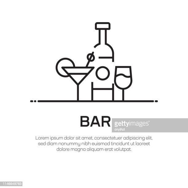 ilustrações, clipart, desenhos animados e ícones de ícone da linha do vetor da barra-ícone fino simples da linha, elemento superior do projeto da qualidade - tequila drink