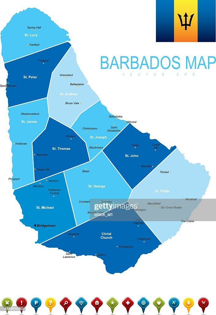 Barbados Map Vector Art Getty Images