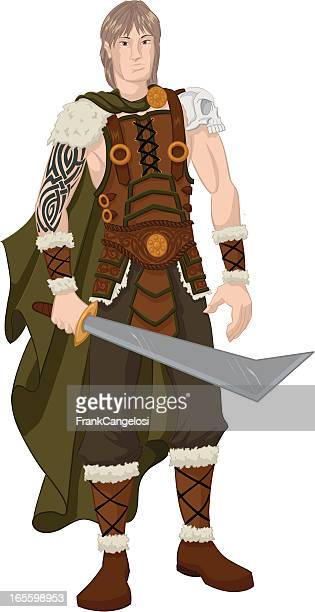 barbarian - goth stock illustrations, clip art, cartoons, & icons
