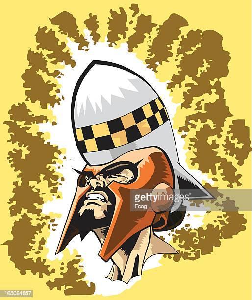 Barbarian with rocket Helmet