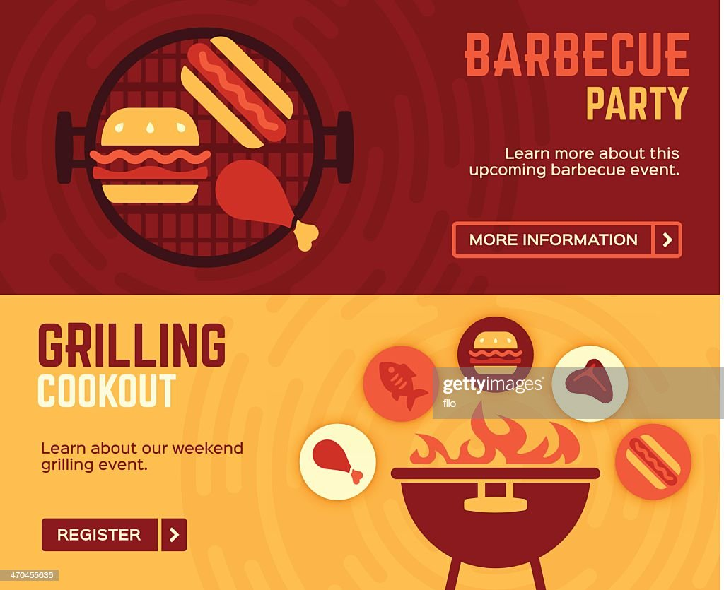 Barbecue Cookout Grilling Banners