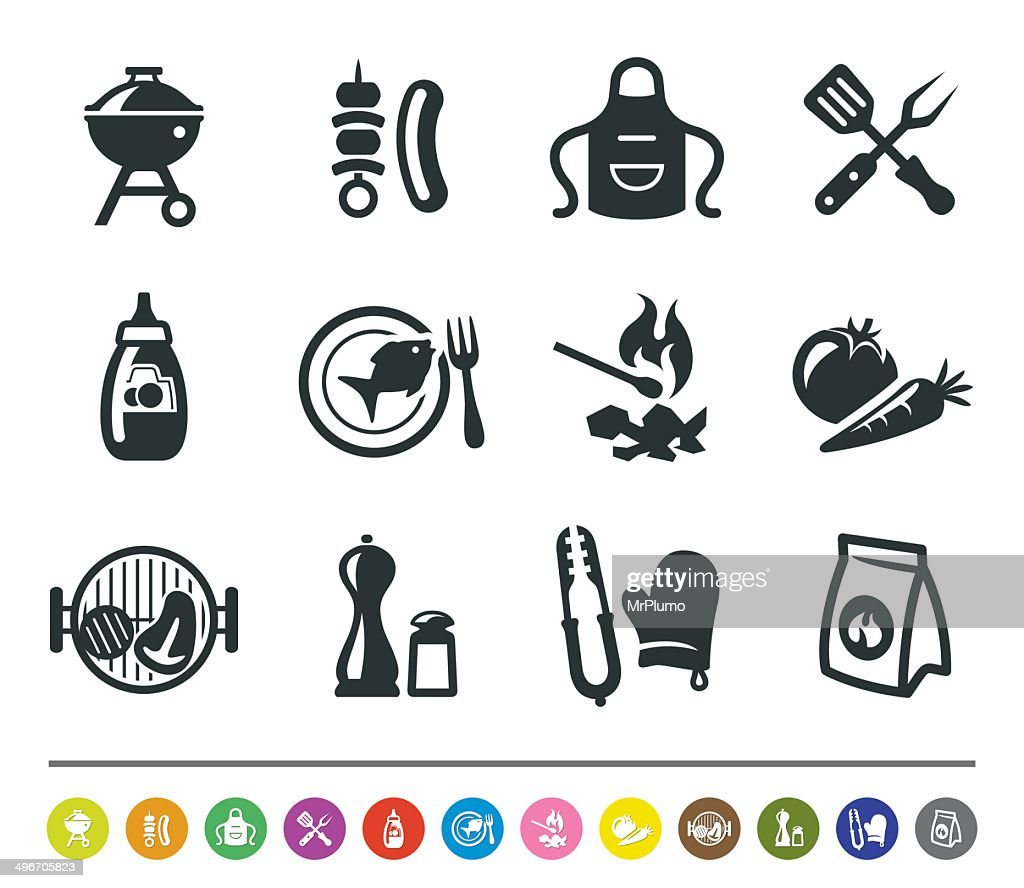 Barbecue Icons Siprocon Collection stock illustration - Getty Images