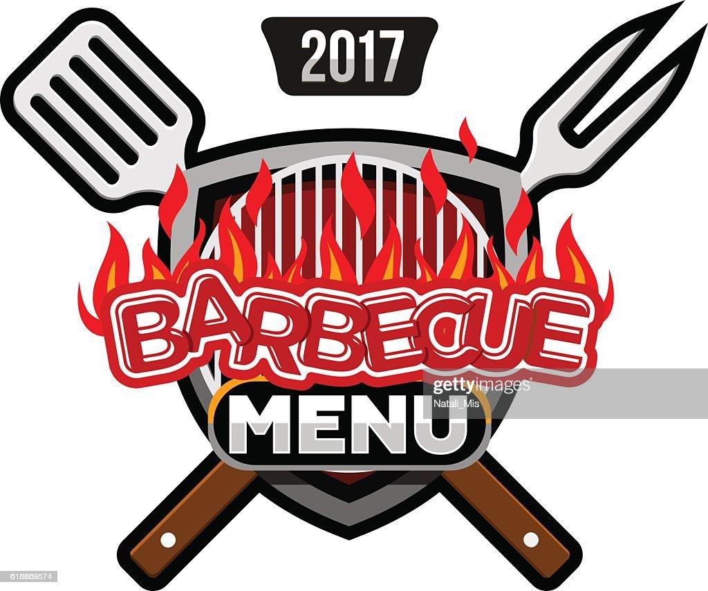 barbecue menu logo menu template design vector art getty images