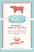 Barbecue Party Invitation, Beef Design