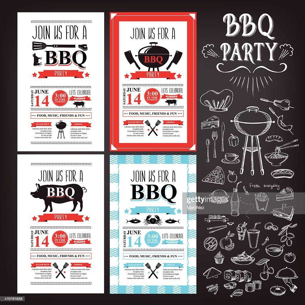 Barbecue party invitation.