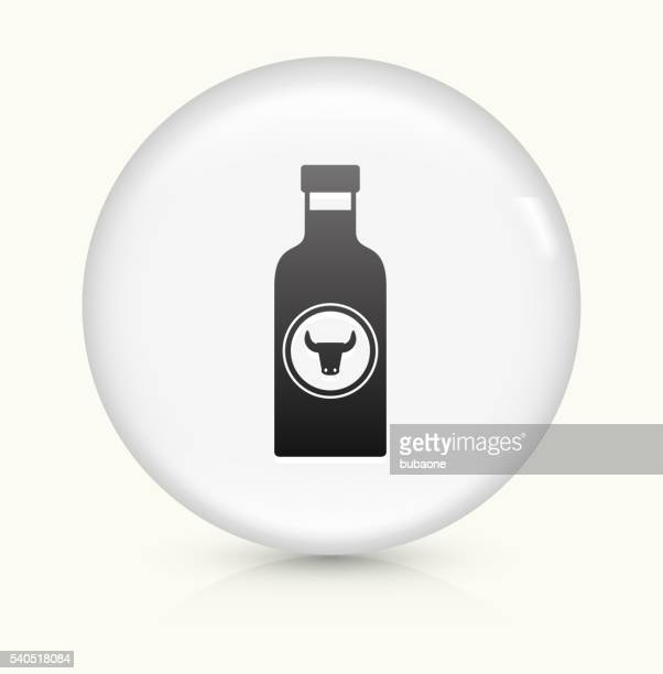 barbecue sauce icon on white round vector button - dessert topping stock illustrations, clip art, cartoons, & icons