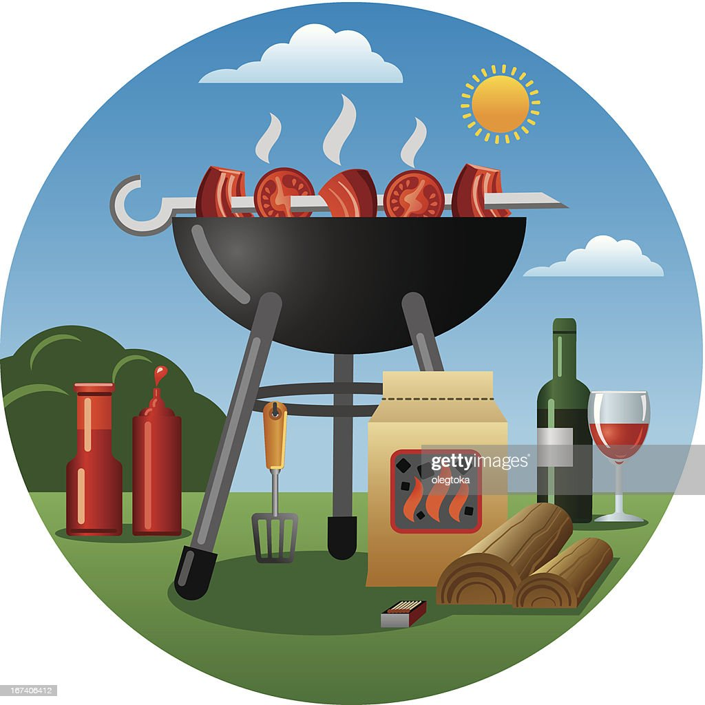 barbecue : Vectorkunst