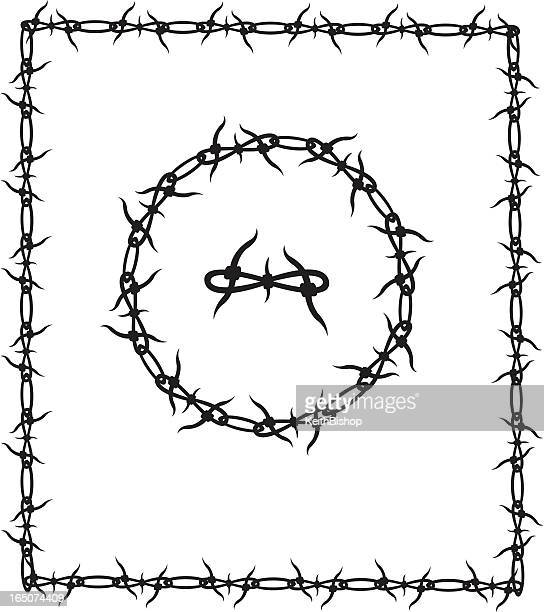 Barbed Wire Stock Illustrations And Cartoons | Getty Images