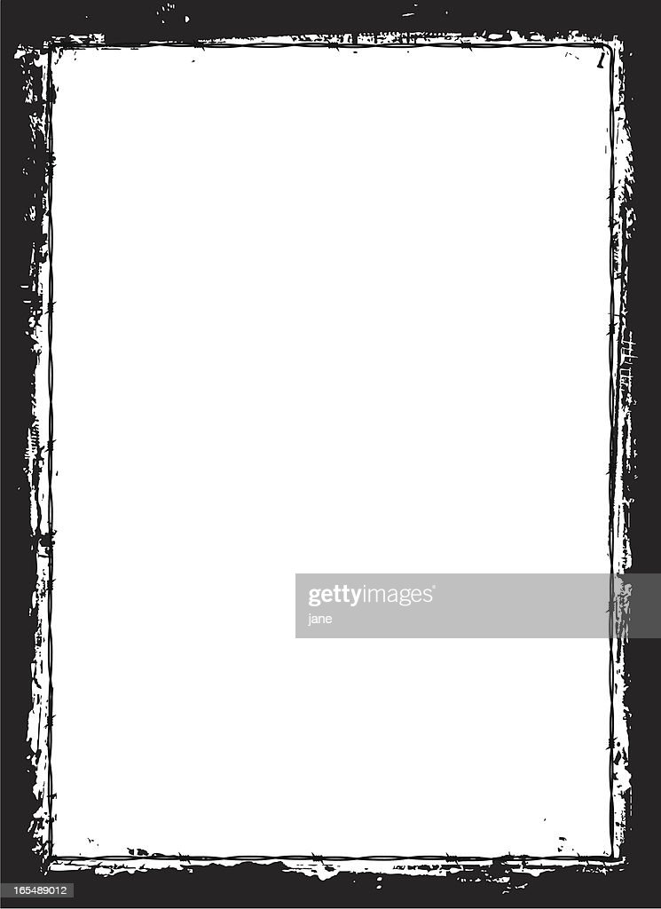 Barbed Wire Grunge Border Vector Art | Getty Images