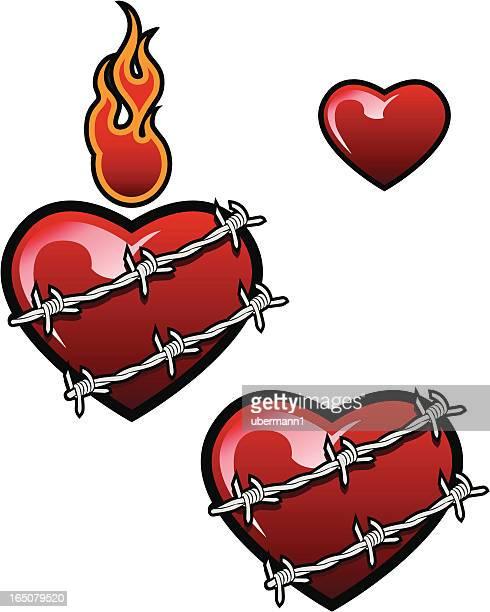 Alambre de espino corazón